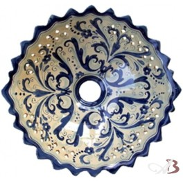 Lampadari In Ceramica Di Caltagirone.Lampadario In Ceramica Di Caltagirone Decoro Fabi Blu Ceramiche