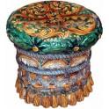 Puffo sedile in ceramica di Caltagirone