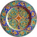 piatto falda in ceramica di caltagirone