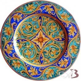 Piatti Ceramica Di Caltagirone.Piatto Falda In Ceramica Di Caltagirone