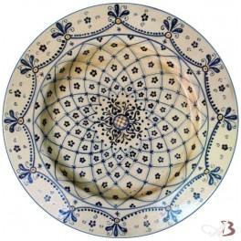 Piatti Ceramica Di Caltagirone.Piatto Falda In Ceramica Di Caltagirone Ceramiche Anna Boria