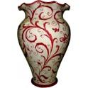 Porta ombrelli smerlato in Ceramica di Caltagirone