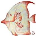 Pesce tropicale in ceramica di Caltagirone